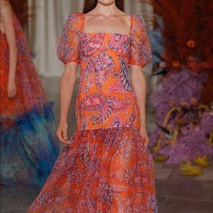 *NWT* Staud Wilde Sequined Paisley Organza Dress